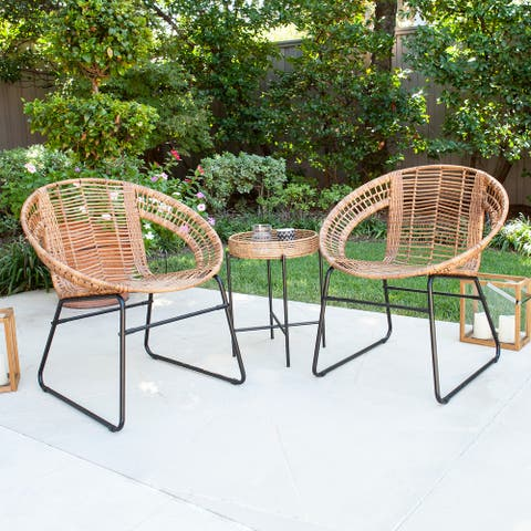 Arti Contemporary Natural Rattan Bistro Set by Havenside Home