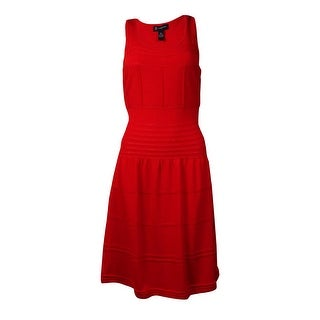 International Concepts Women's Stretchy Knit Sleeveless Dress (M, Loving Red) - m