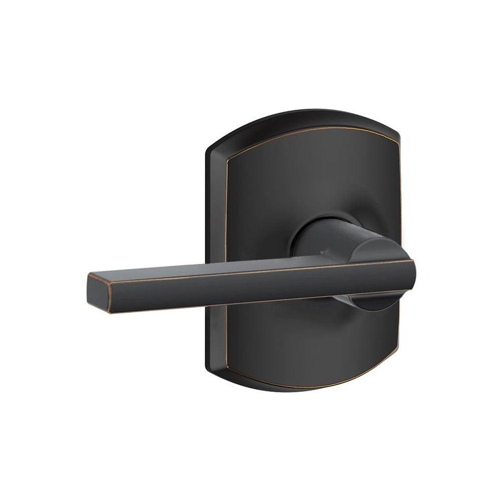 Chrome Schlage F10-LAT-CEN Latitude Passage Door Lever Set