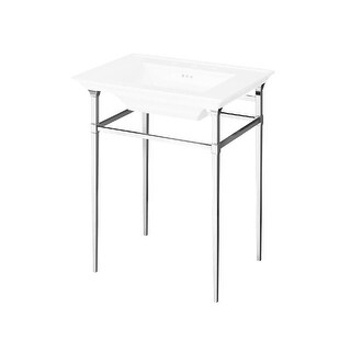 """American Standard 8721.000 Town Square S 24-1/2"""" Metal Console Only - Less Sink - Polished Chrome - N/A"""