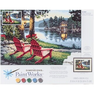"Paint Works Paint By Number Kit 20""X14""-Adirondack Evening"