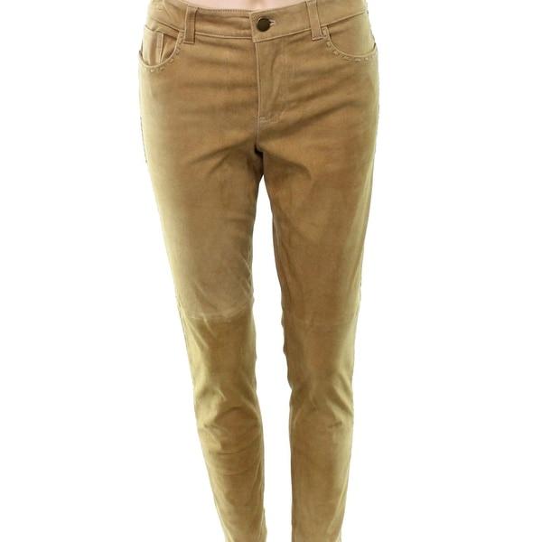Lauren by Ralph Lauren Beige Women's Size 6 Wool Embroidered Pants