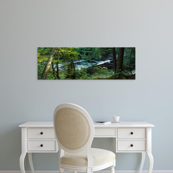 Easy Art Prints Panoramic Images's 'River flowing, Presque Isle River, Porcupine Mountains, Michigan' Canvas Art