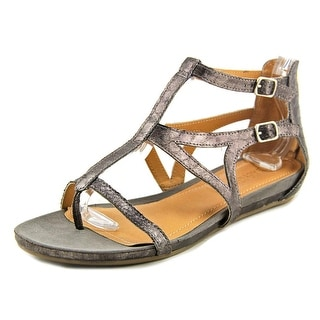 Kenneth Cole Reaction Lost Time Women Open Toe Synthetic Silver Gladiator Sandal