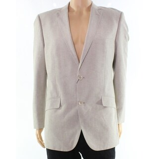 Alfani NEW Beige Mens Size Medium M Two Button Notch-Collar Blazer