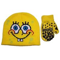 Nickelodeon Boys 2T-4T Months Spongebob Hat and Mitt Set