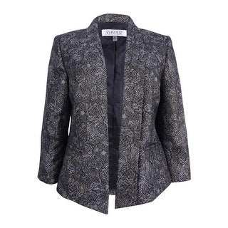 Link to Kasper Women's Goldtone Printed Jacket (10, Gold Multi) - Gold Multi Similar Items in Suits & Suit Separates
