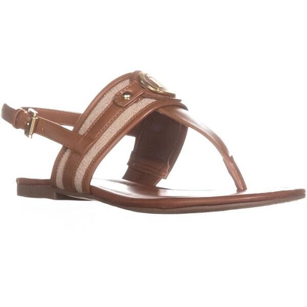 Tommy Hilfiger Shane T-Strap Slingback Sandals, Brown