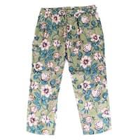 Lauren by Ralph Lauren Green Womens Size 14 Floral Pants Stretch