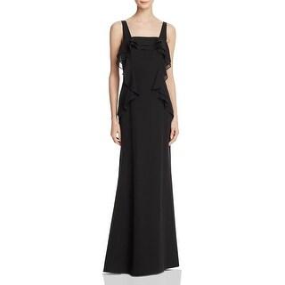 JS Collections Womens Evening Dress Ruffled Full-Length