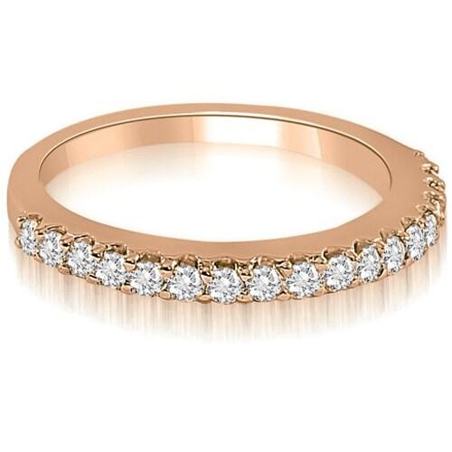 0.22 cttw. 14K Rose Gold Classic Round Cut Diamond Wedding Band