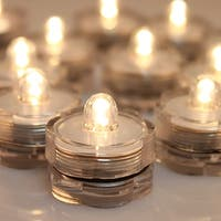 Image 12x Flameless LED Tea Light Submersible Waterproof Light Candles Battery-powered Warm White