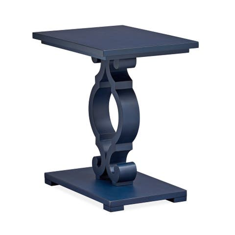 Wood Chairside End Table - Weathered Navy KD