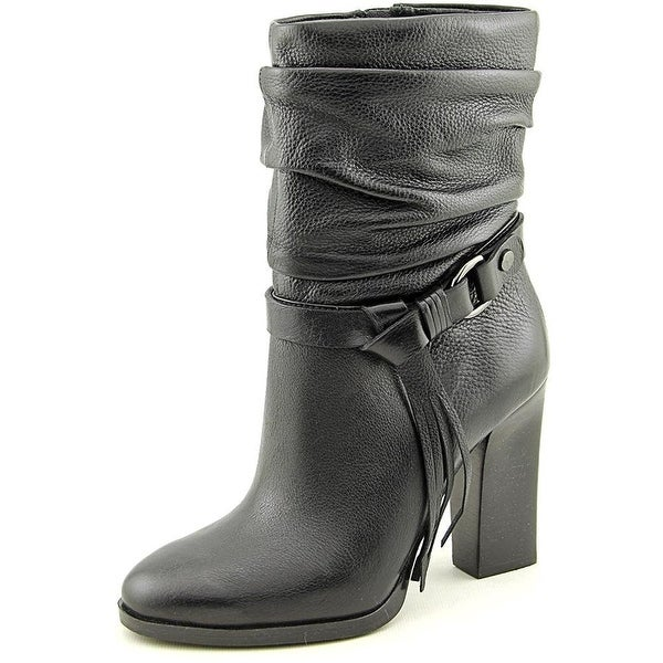GUESS Womens Tamsin Leather Pointed Toe Ankle Fashion Boots