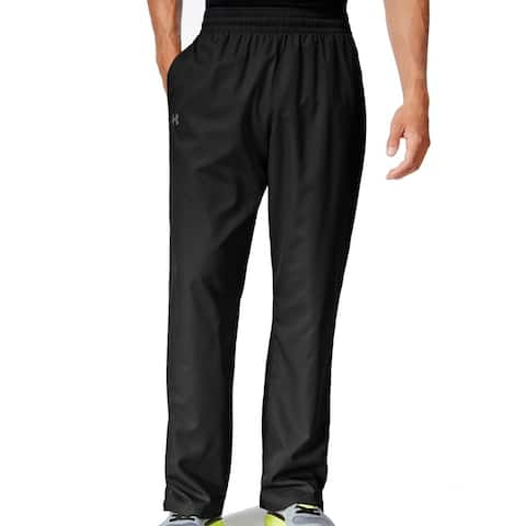 UNDER ARMOUR Mens Pants Solid Black Size XL Woven HeatGear Stretch