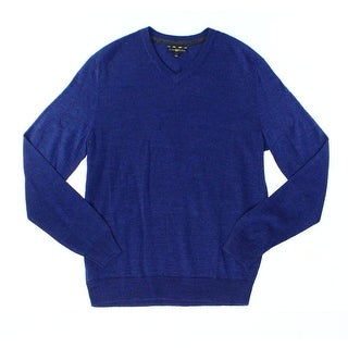 Club Room NEW Lazulite Blue Mens Size Small S V-Neck Wool Knit Sweater