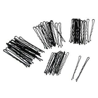 Unique Bargains Black Hair Barrette Bar Bobby Pin Clips for Lady 60 Pcs