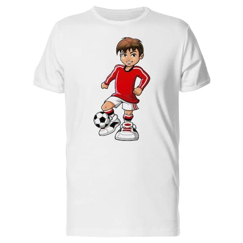 Anime Style Soccer Player Tee Men's -Image by Shutterstock