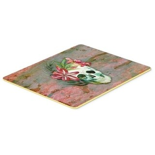 Carolines Treasures BB5125CMT Day of the Dead Skull Flowers Kitchen or Bath Mat 20 x 30 in.