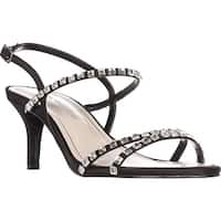 Caparros Christine Rhinestone Strappy Sandals, Black - 8 us