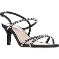 Caparros Christine Rhinestone Strappy Sandals, Black - 8 us