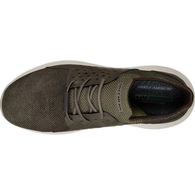 Skechers Men's Relaxed Fit Parson Todrick Slip On Sneaker Olive