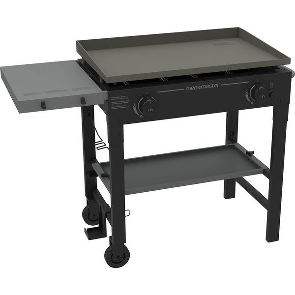 Megamaster 2-Burner Flat Top Propane Gas Grill. Opens flyout.