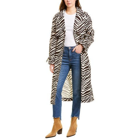 Kendall + Kylie Canvas Trench Coat