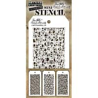 Tim Holtz Mini Layered Stencil Set 3/Pkg-Set #35