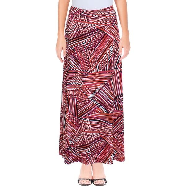 86eaa9aed6e Shop Kasper Womens Maxi Skirt Striped Pull On - Free Shipping On Orders  Over  45 - Overstock.com - 22816969