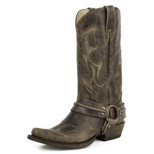 Roper Western Boots Mens Hurricane Bandit Brown