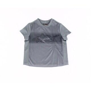 Greg Norman For Tasso Elba NEW Gray Boys Medium M Performance Tee T-Shirt 216