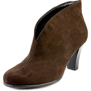 A2 By Aerosoles Gold Role Women W Round Toe Canvas Brown Bootie