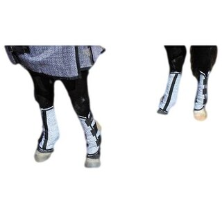 Professionals Choice Fly Boots 4 pack Standard Size Gray Black