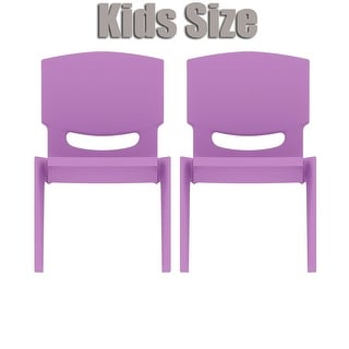 2xhome set of two 2 purple kids size plastic side chair