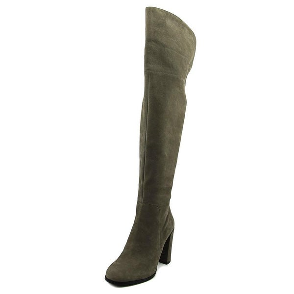 Kenneth Cole NY Jack Women Round Toe Leather Gray Over the Knee Boot