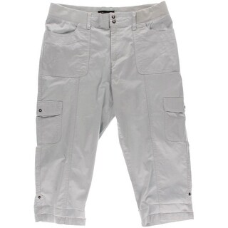 Lee Womens Flat Front Solid Capri Pants - 16