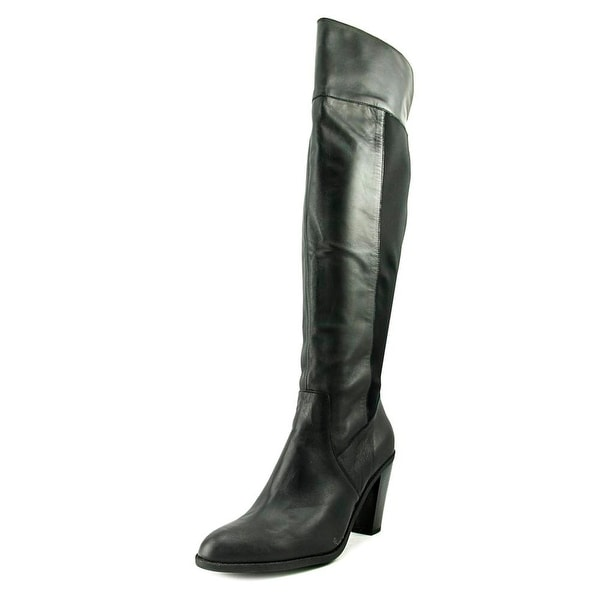 Kenneth Cole Reaction Very Clear Women Round Toe Suede Black Knee High Boot