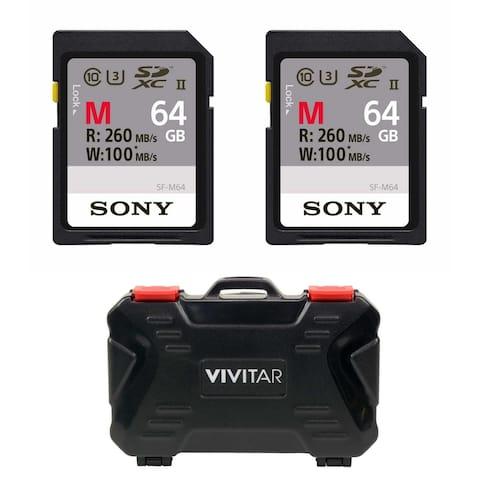 Sony 64GB M Series UHS-II SDXC Memory Card (U3) 2-Pack - Black