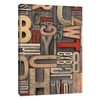 "PTM Images 9-109138  PTM Canvas Collection 10"" x 8"" - ""Red Letterpress B"" Giclee Alphabets Art Print on Canvas"
