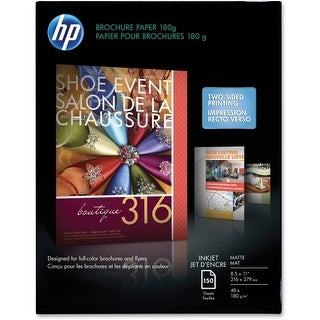 """Hewlett Packard CH016A HP Brochure/Flyer Paper - Letter - 8.50"""" x 11"""" - 48 lb Ba"""