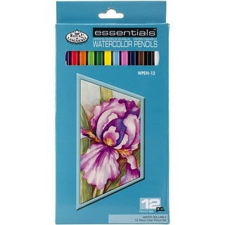 Royal & Langnickel Essentials Watercolor Pencil Set, 12-Piece