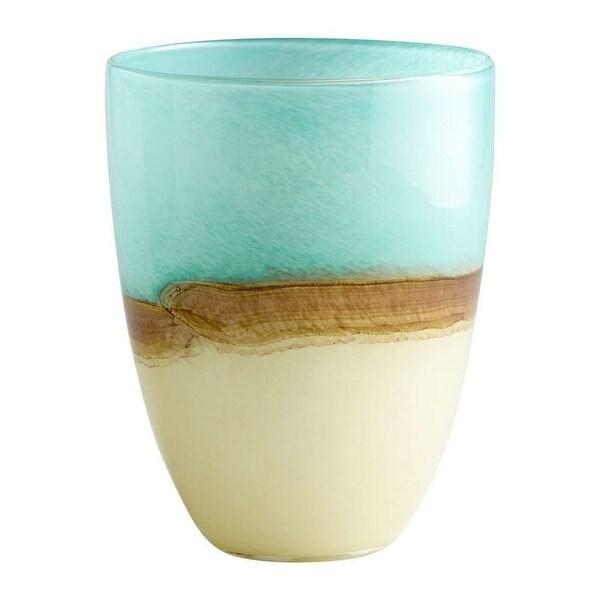"Cyan Design 5873 9.25"" Medium Turquoise Earth Vase - Blue - N/A"