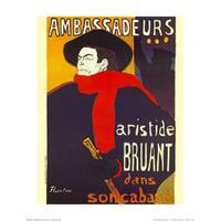 ''Ambassadeurs'' by Henri de Toulouse-Lautrec Vintage Advertising Art Print (20 x 16 in.)