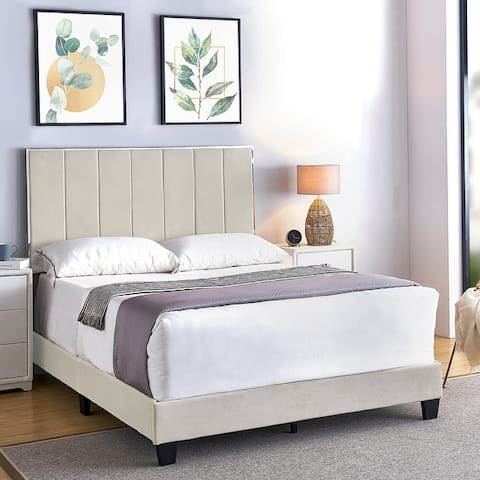 Mallory Upholstered Platform Bed by US PRIDE FURNITURE