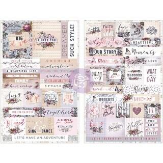 """Lavender Stickers 4.5""""X6.5"""" 2/Pkg-Words & Quotes W/Rose Gold Foil"""