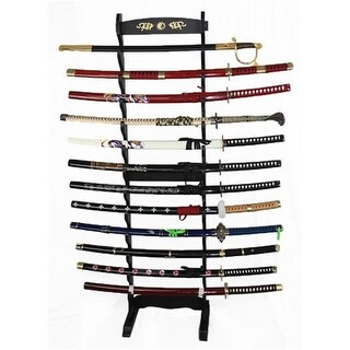 9099 Tier Yin Yang Design Sword Stand, 12 in