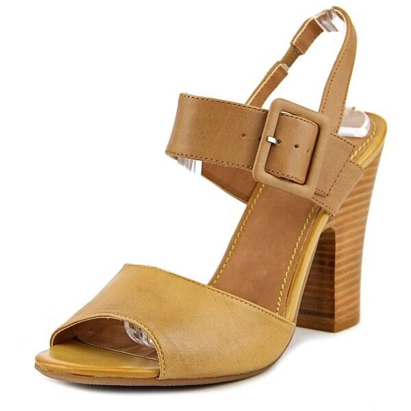 Civico 10 Latitude   Open-Toe Leather  Slingback Heel