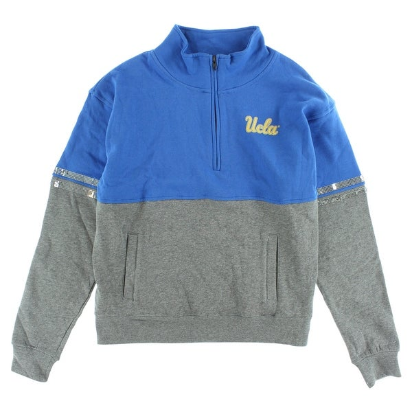 Colosseum Womens UCLA Bruins Quarter Zip Sweater Blue - Blue Gold Grey 18cf3845fb