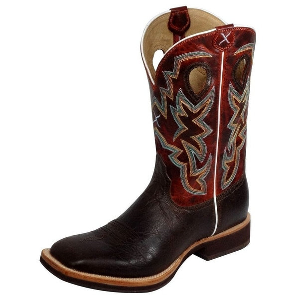 Twisted X Western Boots Mens Horseman Chocolate Burnt Orange